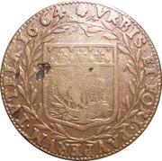Jeton - Villes et noblesse - Jean Le Vieulx, premier échevin et consul, receveur général des pauvres – revers