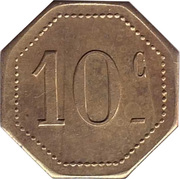 10 centimes UCM – revers
