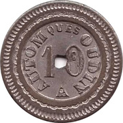10 centimes AUTOM ques OUDIN – avers