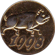 1998 Lucky Token – avers