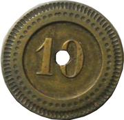 10 centimes - Mariotte – revers
