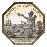 Jeton Napoléon Ier Chambre de commerce d'Amiens 1804 – revers