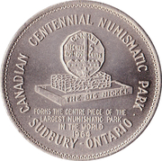 "Sudbury ""Big Nickel"" Medallion – avers"