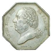 Jeton courtiers de commerce bourse de Paris - Louis XVIII – avers