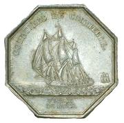 Jeton courtiers de commerce bourse de Paris - Louis XVIII – revers