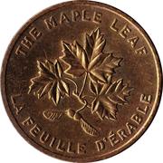 Jeton Shell - Canada (La feuille d'érable) – avers