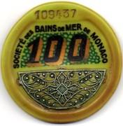 100 Francs (avec filigrane argent) - Casino de Monte-carlo – avers