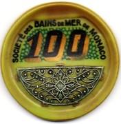 100 Francs (avec filigrane argent) - Casino de Monte-carlo – revers