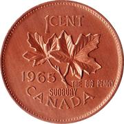 1 cent  big penny sudbury – revers
