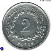 2 Francs - Ecole pratique de Commerce - Paris [75] – revers
