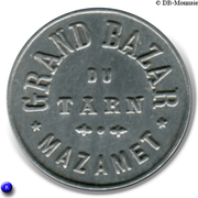 25 Centimes - Grand Bazar du Tarn - Mazamet [81] – avers
