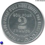 2 Francs - Bijoux Eve - Paris [75] – revers