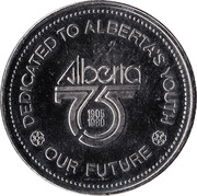 Alberta 75 Years Token – revers