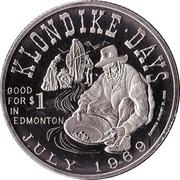Klondike Dollar - Edmonton, Alberta - 1969 -  avers