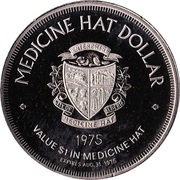 Medicine Hat, Alberta - Trade Dollar – revers