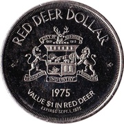 Red Deer, Alberta - Red Deer Dollar – revers
