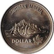 Southern Alberta Jeux Canada Games Trade Dollar – avers