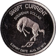 Swift Current, Saskatchewan - Souvenir Dollar – revers