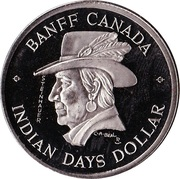 1 dollar BANFF 1975 – avers