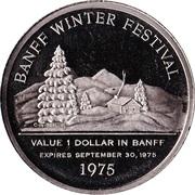 1 dollar BANFF 1975 – revers