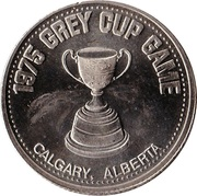 1 dollar GREY CUP GAME 1975 – avers