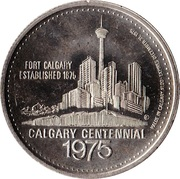 1 dollar GREY CUP GAME 1975 – revers