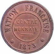 Contre-monnaie de 10 francs – avers