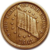 1 Cent (Civil War Token -  Flag of Our Union/Shoot Him On The Spot)) – avers