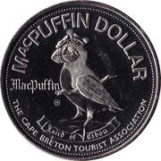 Cape Breton Island, Nova Scotia - MacPuffin Dollar – revers