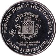 1 dollar WINNIPEG 1976 – revers