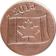 RCM 2015 Canada Day Token – revers