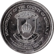 Kings County, Nova Scotia - Trade Two Dollars – revers