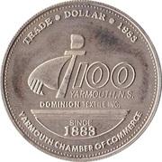 Yarmouth, Nova Scotia - Trade Dollar – revers