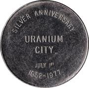 Uranium City, Saskatchewan - Silver Anniversary Medallion – revers