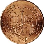 1962 World's Fair, Seattle - One Dollar Token -  avers