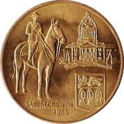 Saskatchewan Diamond Jubilee 1965 – revers