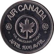 Air Canada - Inaugural Flight Medallion – revers