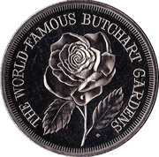Victoria, British Columbia - Butchart Gardens Medallion – avers