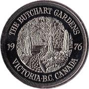 Victoria, British Columbia - Butchart Gardens Medallion – revers