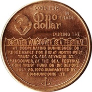 Vancouver, British Columbia - Trade Dollar – revers