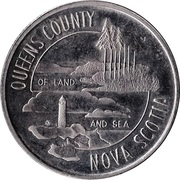 Queens County, Nova Scotia - Trade Dollar – avers