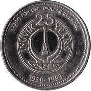 Inuvik, North-West Territories - Trade Dollar – revers
