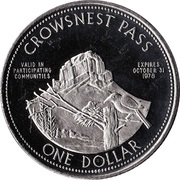 Crowsnest Pass, Alberta - One Dollar – revers