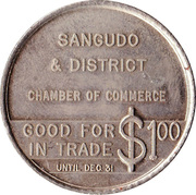 Sangudo, Alberta - Trade Dollar – revers