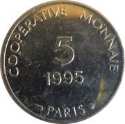 5 francs - Coopérative monnaie - Paris [75] – avers