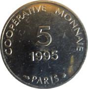 5 francs - Coopérative monnaie - Paris [75] – revers