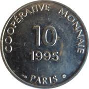 10 francs - Coopérative monnaie - Paris [75] – avers