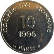 10 francs - Coopérative monnaie - Paris [75] – revers