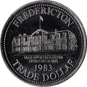 Fredericton, New Brunswick - Trade Dollar – revers