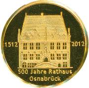 500 Jahre Rathaus Osnabrück – avers